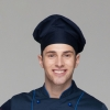 navy chef hat